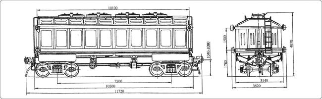 4-осный крытый вагон с