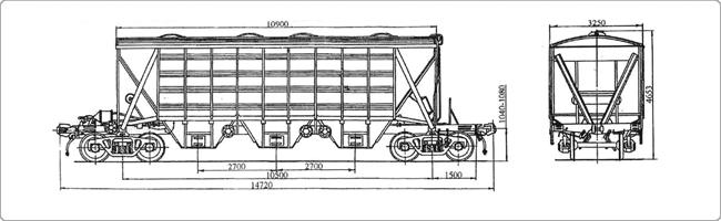 4-осный крытый вагон-хоппер