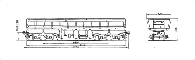 6-осный вагон-самосвал